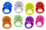 Blinkring 8er Set - Das Original - Mallorca-Edition - Blinkende LED Party Ringe (8-Farben-Mix)