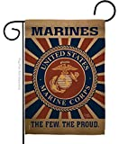 Breeze Decor - Marine Corps Burlap Americana -...