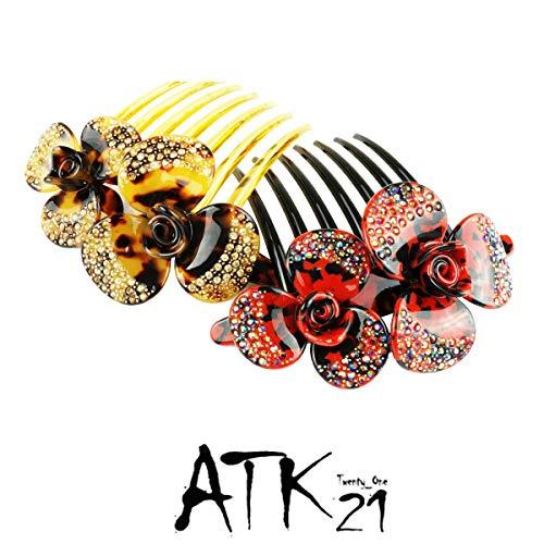 ATK21『フラワーアセテートコーム簪かんざし(HKM130701)』