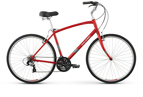 Raleigh Detour 2 Comfort Bike, 19' /LG, Red, 19' / Large