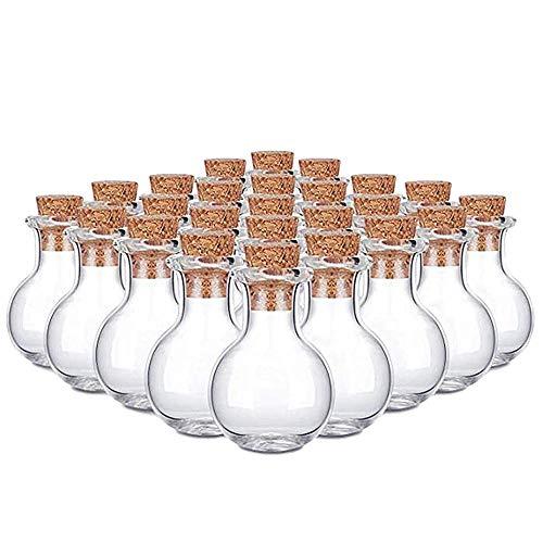 【10 PCS】Mini Glass Jars Bottles DIY Wish Bottles with Corks stoppers, Bottles with Cork stoppers Clear Wish Bottles Container for Wedding Birthday Christmas Halloween DIY Arts Crafts Decorations