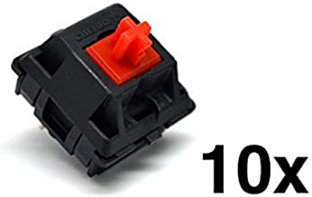 Cherry MX Red Keyswitch (10 pack) - MX1AL1NN | Plate Mounted | Linear | by himalayanelixir