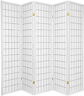 3 - 10 Panel Room Divider Square Design White (5 Panel)