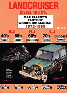 Lancruiser Diesel 4&6 cyl 1972-90 Factory Shop Man-Toyota BJ, HJ, LJ. -40's 55's 60's 70's Bundera (Max Ellery's Vehicle Repair Manuals)