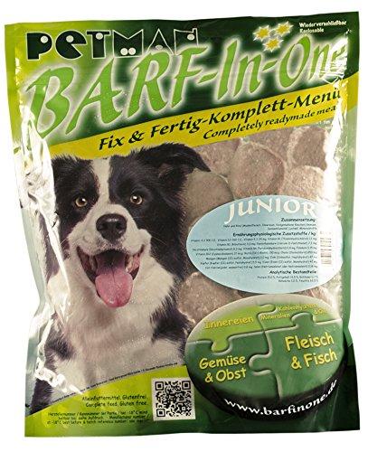 petman Barf-in-One Junior, 6 x 750g-Beutel, Tiefkühlfutter, gesunde, natürliche Ernährung für Hunde, Hundefutter, Barf, B.A.R.F.