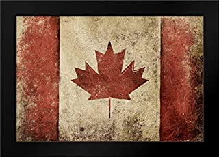 Canadian Rustic Flag Framed Art Print by Grey, Jace