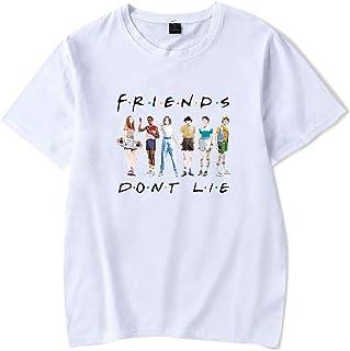 Camiseta Stranger Things Mujer, Unisex Camiseta Stranger Things Hombre Manga Corta Impresión Abecedario T-Shirt Niña Regal...