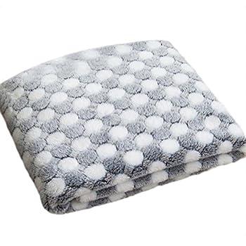 Couverture Emorais en tissu polaire chaud - Pour animal de compagnie - Souple et lavable - 104x76cm (Blanc)