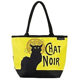 VON LILIENFELD Cabas Besace Chat Noir Art Sac Bandoulière Spacieux Sacs Portés Èpaule Cabas Décontractés