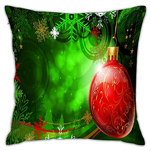Airmark Two Sides Design Printed Throw Pillow Covers,Christmas Background Pattern (215) Square 18x18 Inch Throw Pillow Cover