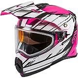 Gmax AT-21S Adventure Epic Adult Snowmobile Helmet -...