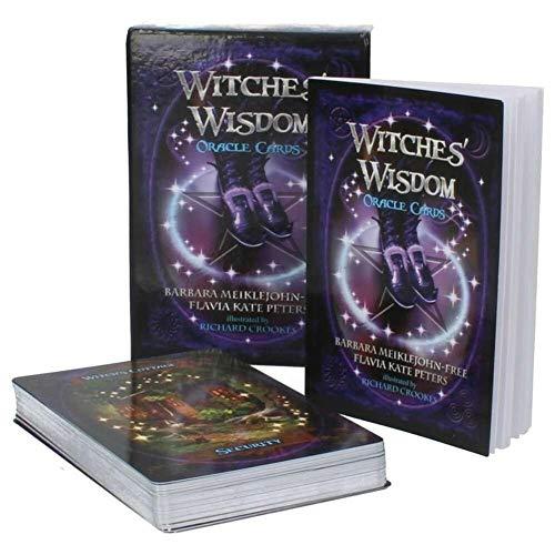 URNOFHW 48PCS Tarot-Kartenspiel-Hexen Wisdom Oracle Karten Atemberaubende Deck von 48 Karten Schreibtisch Spielen Unterhaltung for Partei-Geschenk (Color : Witches)