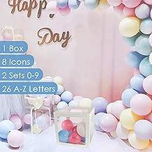 BaraBox 1 PCS White Baby Blocks Kit (1 Boxes, Letters, Numbers, Icons)