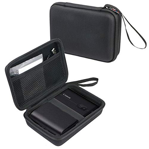 khanka Hard Case Compatible with Canon SELPHY QX10 Compact Square Photo Printer (Black)