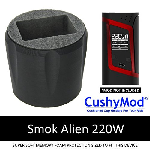 Smok Alien 220 CUP HOLDER by CushyMod * Kit TFV8 Baby Beast Smoktech silicone cupholder case wrap skin sleeve mod memory foam
