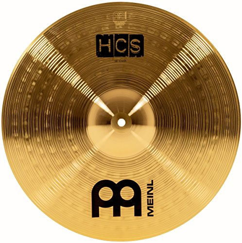 "Meinl 16"" Crash Cymbal – HCS Traditional Finish Brass for Drum Set, Made In Germany, 2-YEAR WARRANTY (HCS16C)"