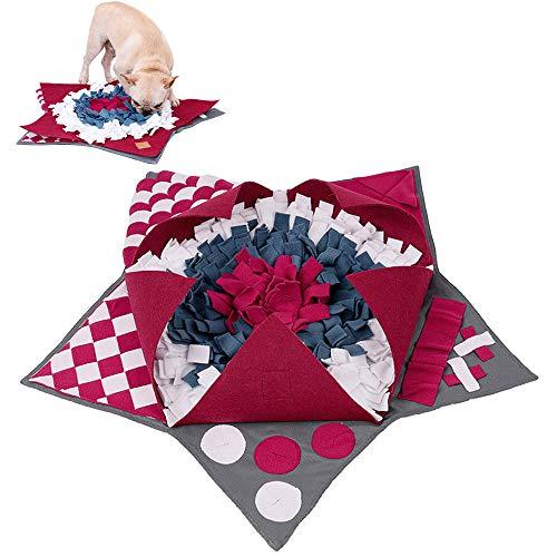 Schnüffelteppich Hund, Snuffle Mat Schnüffelmatte Futtermatte Schnüffeldecke Schadstofffrei für Hund, Intelligenz Hundespielzeug Interaktives Spielzeug für Hunde Langsame Zuführung Pentagrammform