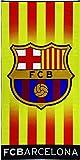 Textil tarragó - Senyera Serviette de plage FC Barcelone, coton, multicolore,75x150 cm