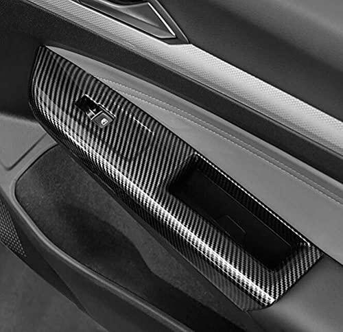 LYSHUI Manija de Puerta Interior Cubierta de Interruptor de Ventana Pegatinas de Ajuste de Coche, para Volkswagen Golf 8 MK8 280TSI Pro 2021 2022