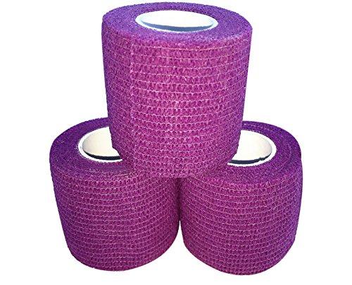 zechy Griffband – Hockey, Baseball, Lacrosse, alles, was Sie brauchen, besser zu halten – 5,1 cm x 4,5 m (3 Stück) (lila)