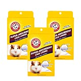 Arm & Hammer for Pets Super Absorbent Cage Liners for Guinea Pigs, Hamsters, Rabbits & All Small Animals | Best Cage Liners for Small Animals, 7 Count x 3 Packs, 21 Count