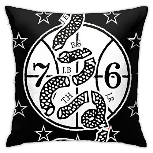 jhgfd7523 Throw Pillow Cover Sixers Phila Unite Coat of Arms Decorative Pillow Case Home Decor Square 18x18 Inches Pillowcase