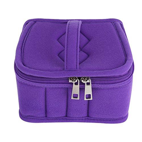 Bolsa de maquillaje, 5 colores 30 rejillas esenciales, estuche de almacenamiento anti choque, botella de transporte, bolsa de cosméticos, bolsas de al