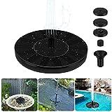 Redmoo Bomba Fuente Solar, Bomba de Agua Solar, Fuente Solar Jardín Mejorada con 4 Boquilla, Rociado de Agua para Baño de Pájaros, Acuario y Decoración de Jardín