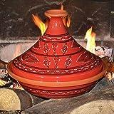 Tajine Tatoué rouge - D 31 cm traditionnel