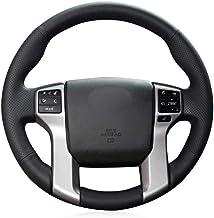 OPOPDLSA Cubierta del Volante de Cuero Artificial Negro para Toyota Land Cruiser Prado 2010-2017 Tundra 2014-2019 Tacoma 2012-2019