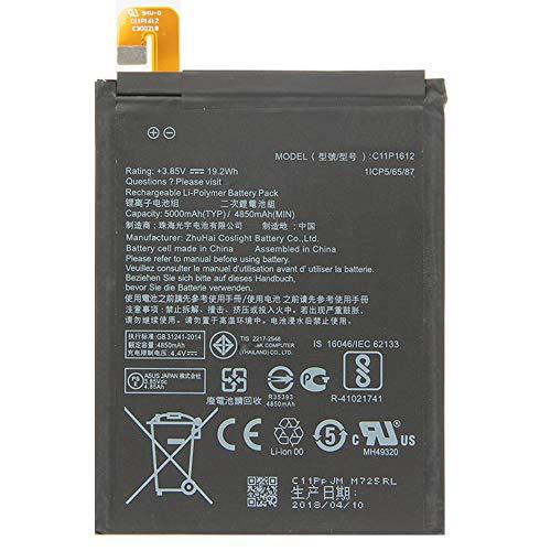 """電池Asus対応電話バッテリー 3.85V 19.2Wh ASUS C11P1612 携帯バッテリー ASUS Zenfone 4 Max pro plus ZC554KL X00ID 5.5"""" C11P1612 交換用のバッテリー 互換電池"""