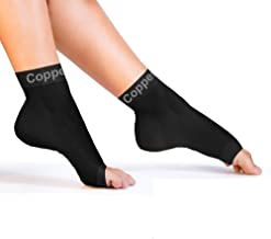 Copper Compression Recovery Foot Sleeves / Plantar Fasciitis Support Socks –..