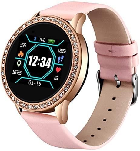 reloj inteligente Fitness pulsera reloj inteligente mujeres hombres Actividad tracker ritmo cardíaco monitor de presión arterial impermeable smartwatch Assista-Rosa