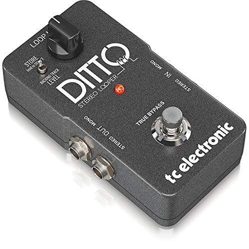 TC Electronic DITTO STEREO LOOPER Pedal de Fraseo/Looping, True Bypass