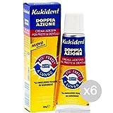 Set 6 KUKIDENT Plus Doppia Azione G40 Crema Adesiva Igiene E Cura Dei Denti