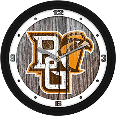 SunTime Bowling Green Falcons - Weathered Wood Wall Clock