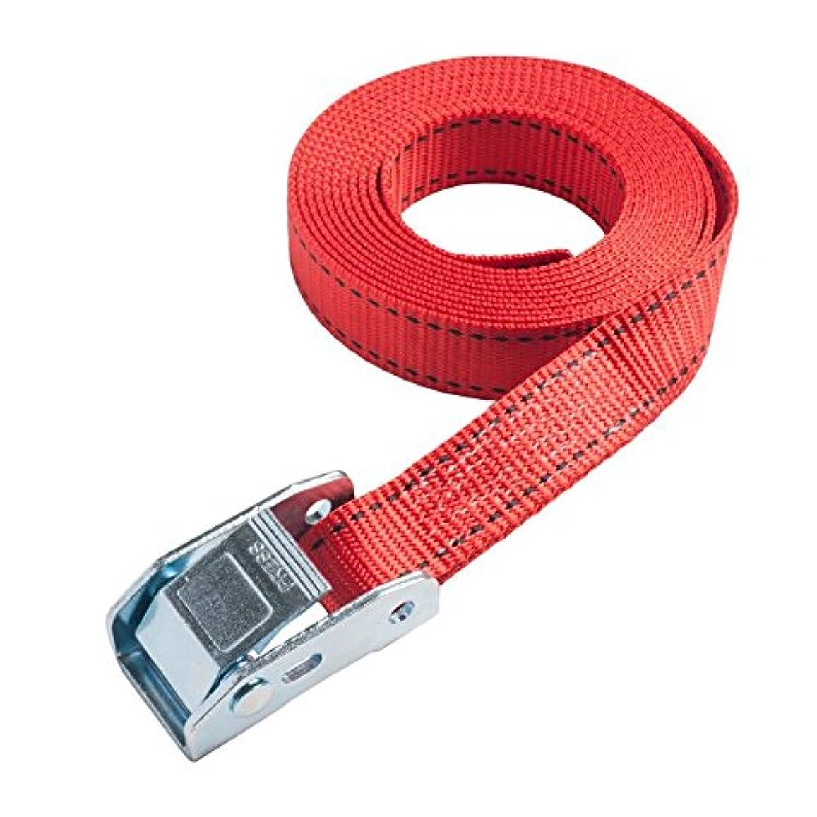 検証通行人古くなった25mm幅 カムバックルベルト エンドレスタイプ 1.5m 赤