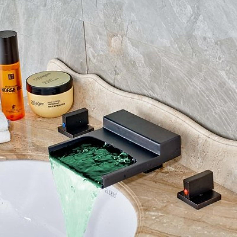 Maifeini Moderne l Kupfer Farbe ndert Sich Das Quadrat Wasserfall Bad Waschbecken Serie Mixer Klicken Sie Auf Die Hot In Der Kalten, Clearing