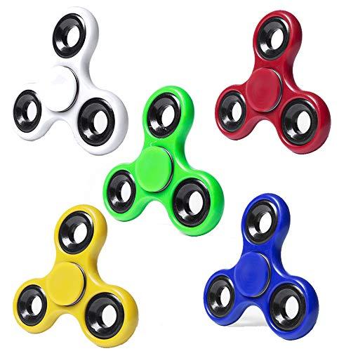 Partituki Pack de 5 Spinners de Metal. Idea Genial para Regalos de Cumpleaños para los Niños de la Clase, Regalos de Comuniones, Bodas…