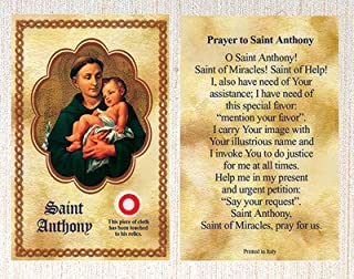 E's Guardian Angel Saint/St Anthony Relic Holy Card Patron of Lost Items Made in Italy