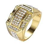 Herren Ringe, Diamant Männer Business Edel Ring Ein Geburtstagsgeschenk Geschenk Partnerringe (Gold, 57 (18.1))