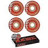 Spitfire Skateboard Wheels 53mm Taylor F4 99A OG Classic + Bones Reds Bearings