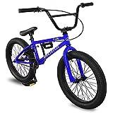 Micargi MBX Cape 20 Sidewalk BMX Bike for-Kids, Children and Beginner-Level to Advanced Riders, 20-inch Wheels, Hi-Ten Steel Frame, Micro Drive 25x9T BMX Gearing (Blue)