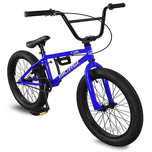 Micargi Cape 20 Sidewalk BMX Bike, Micro Drive 25x9T BMX Gearing (Blue)