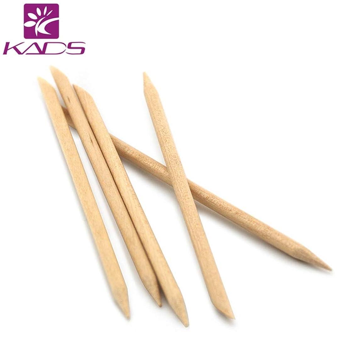 熱意のため従うKADS 最高品質オレンジウッドスティック ジェルネイル用 5本入り(ウッド棒 検定)