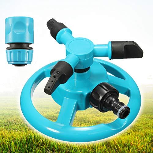 king do way Rasen Sprinkler automatischer Garten Wassersprinkler Rasen Bewaesserungssystem, 360-Grad-Drehung, Rasenbewässerung, Gartenbewässerung, Dachkühlung (Rotierender Rasensprenger)