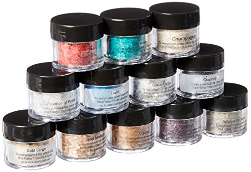 US Artquest Mica Flake Collection, 12 Stück