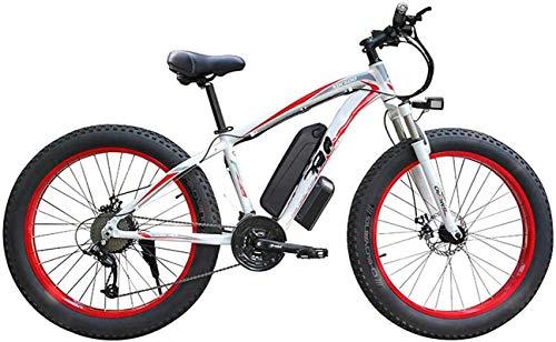 Bicicleta eléctrica de la Nieve, 500W / 1000W Bicicleta eléctrica de la montaña 26 '' Bicicleta Profesional Plegable con 48V 13Ah Batería de Iones de