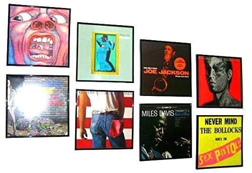 Set de 6 - Marcos para Álbumes / Disco de vinilo para exponer Album Cover y LPs elepé Vinilo - negro