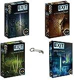 Juego de 4 juegos Exit Laboratorio Secret + Tumba del Faraón + la cabaña abandonada + la estación polar + 1 abrebotellas Blumie.